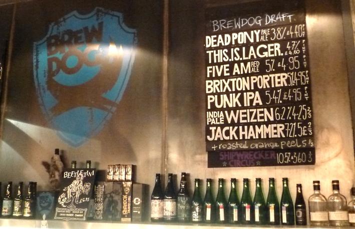 BrewDog Bar Camden, London, Bier in England, Bier in Großbritannien, Bier vor Ort, Bierreisen, Craft Beer, Bierbar