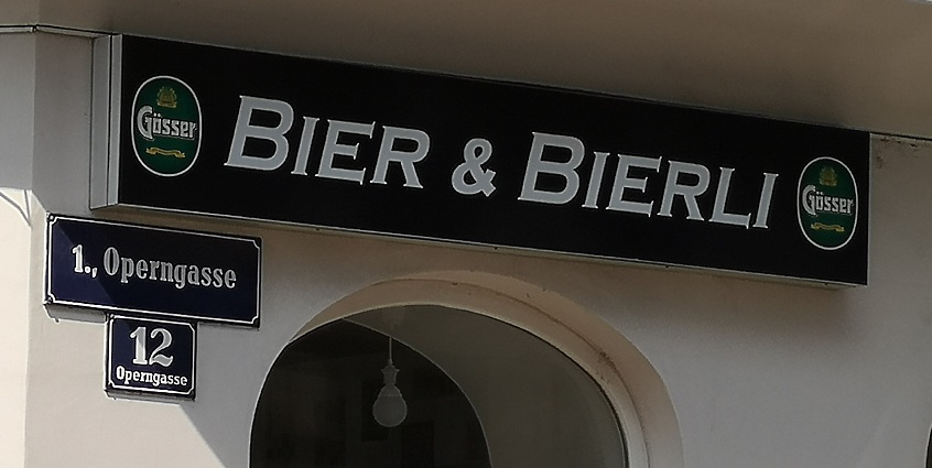 Bier und Bierli, Wien, Bier in Österreich, Bier vor Ort, Bierreisen, Craft Beer, Bierrestaurant