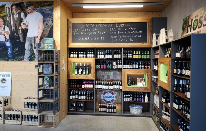 Höss Biererlebnis, Sulzberg, Bier in Bayern, Bier vor Ort, Bierreisen, Craft Beer, Brauerei, Bierseminar, Bottle Shop, Schaubrauen