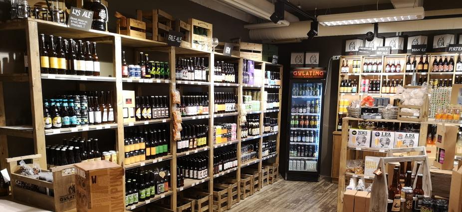 Gulating Ølutsalg Byhaven, Trondheim, Bier in Norwegen, Bier vor Ort, Bierreisen, Craft Beer, Bottle Shop
