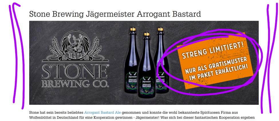 Stone Brewing Jägermeister Arrogant Bastard, Bierothek Bamberg, Bier in den USA, Bier in Deutschland, Bier vor Ort, Bierreisen, Craft Beer, Brauerei, Bottle Shop, Reinheitsgebot