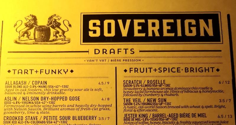 The Sovereign, Washington D.C., Bier in den U.S.A., Bier vor Ort, Bierreisen, Craft Beer, Bierrestaurant