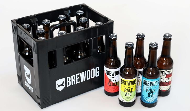Fünf BrewDog Biere in der 10er Mix-Box, Bier vor Ort, Bierreisen, Craft Beer, Bottle Shop