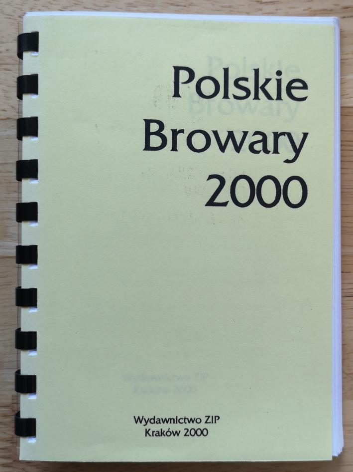 Ziemowit Fałat, Polskie Browary 2000, Bier in Polen, Bier vor Ort, Bierreisen, Craft Beer, Brauerei, Bierbuch