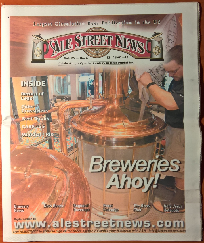 Ale Street News, Bier in USA, Bier vor Ort, Bierreisen, Craft Beer, Biermagazin