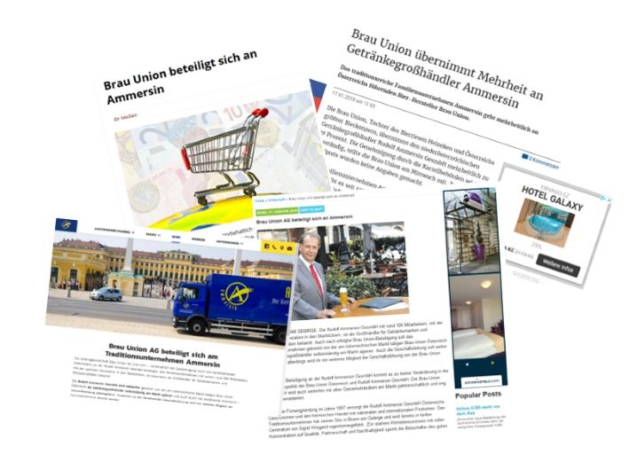 Brau Union übernimmt Ammersin, Wien, Bier in Österreich, Bier vor Ort, Bierreisen, Craft Beer, Bottle Shop