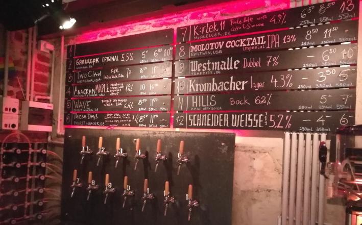 Kanaal Craft Beer Bar, Sofia, Bier in Bulgarien, Bier vor Ort, Bierreisen, Craft Beer, Bierbar
