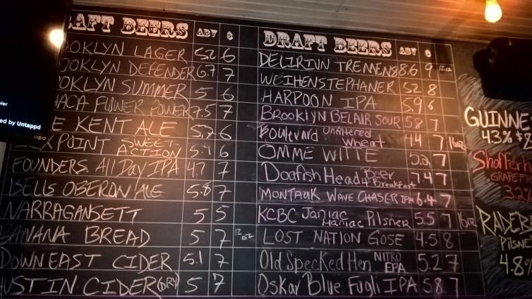 The Kent Ale House, Brooklyn, Bier in New York, Bier vor Ort, Bierreisen, Craft Beer, Bierbar