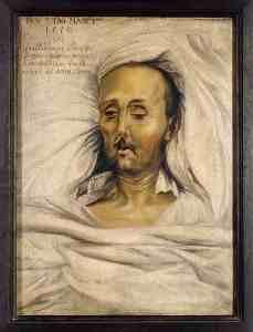 Herzog Wilhelm IV. beklemmend realistisch auf dem Totenbett. Ist sein heute bekanntestes Werk, das Reinheitsgebot, genauso tot? [2]