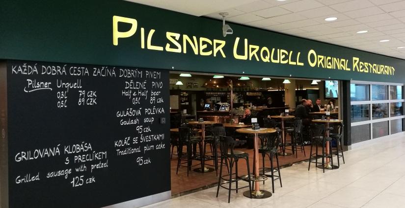 Pilsner Urquell Original Restaurant na Letišti Václava Havla, Prag, Bier in Tschechien, Bier vor Ort, Bierreisen, Craft Beer, Bierrestaurant