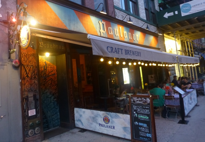 Paulaner on Bowery, New York City, Bier in New York, Bier vor Ort, Bierreisen, Craft Beer, Brauerei