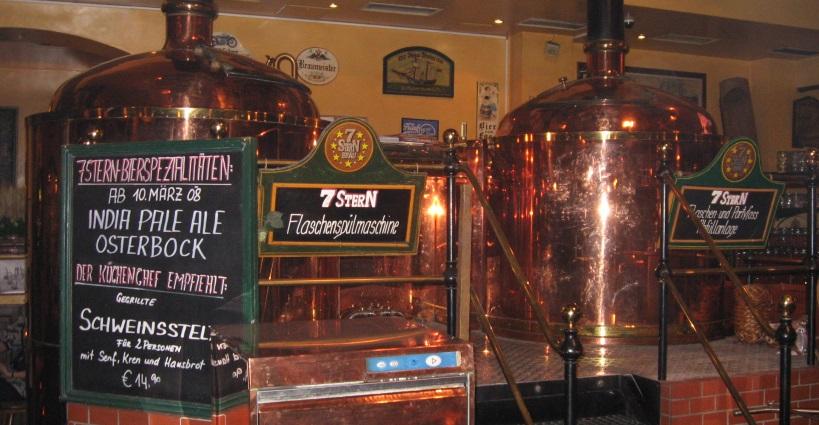 Siebensternbräu Restaurationsbetrieb GmbH, Wien, Bier in Österreich, Bier vor Ort, Bierreisen, Craft Beer, Brauerei, Gasthausbrauerei