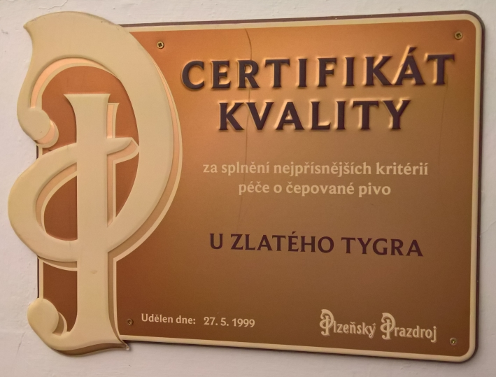 U Zlatého Tygra, Prag, Bier in Tschechien, Bier vor Ort, Bierreisen, Bierbar
