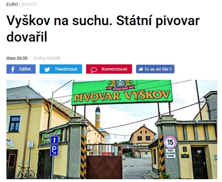 Pivovar Vyškov, Vyškov, Bier in Tschechien, Bier vor Ort, Bierreisen, Craft Beer, Brauerei